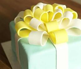 Tiffany礼物盒蛋糕的做法
