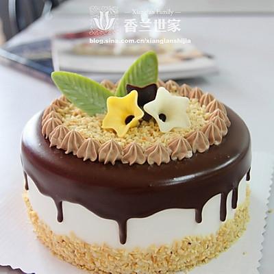 [香兰世家]由内而外的精致---巧克力淋面蛋糕 详细装饰过程