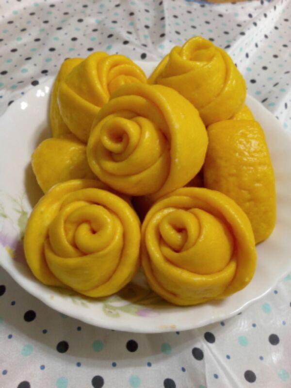 黄玫瑰馒头的做法