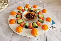 #炎夏消暑就吃「它」#5元快手颜值菜—红油青瓜胡萝卜卷的做法