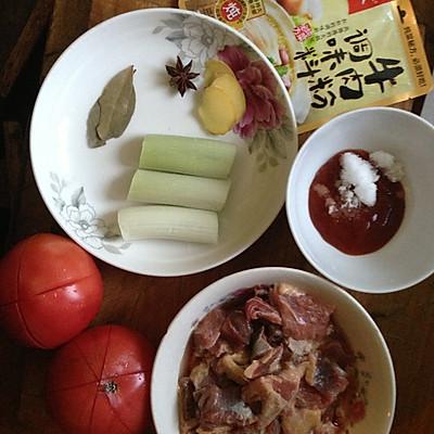 大喜大牛肉粉试用之西红柿牛腩的做法 步骤1