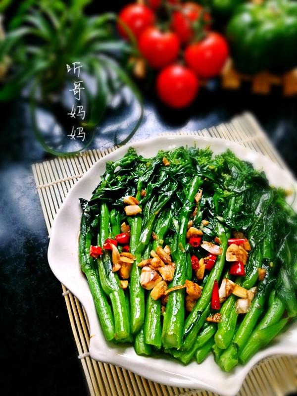 素食之— —白灼菜花的做法