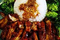 没用一滴油的照烧鸡腿饭#福气年夜菜#的做法