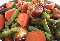 胡萝卜豆角炖肉的做法