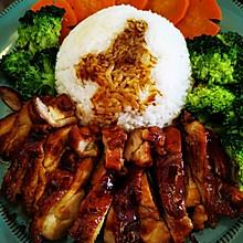 没用一滴油的照烧鸡腿饭#福气年夜菜#