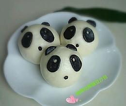 花样面食~萌萌的熊猫豆沙包。的做法