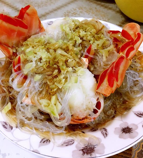 蒜茸粉丝蒸龙虾的做法