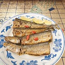 #美食视频挑战赛#香煎秋刀鱼