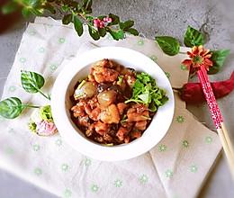 #肉食者联盟#酱香浓郁的鸡肉茄子丁的做法