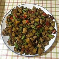 黑椒肉粒炒豆角的做法图解5