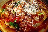 泡菜五花肉年糕汤的做法