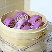 紫薯双色馒头的做法图解11