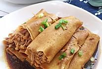 比肉好吃很多还香的百叶金针菇卷的做法