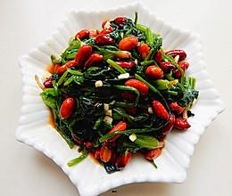 菠菜凉拌花生米的做法