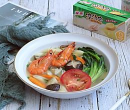 浓汤杂蔬面疙瘩的做法