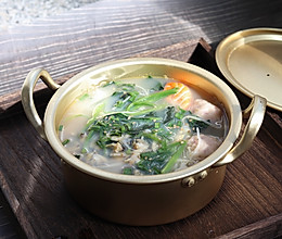 菠菜蛤蜊汤的做法