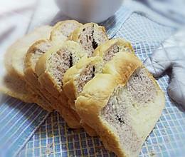 紫薯芝麻双色吐司(东陵面包机)的做法