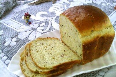 #硬核菜谱制作人##一人一道拿手菜#黑芝麻果仁面包