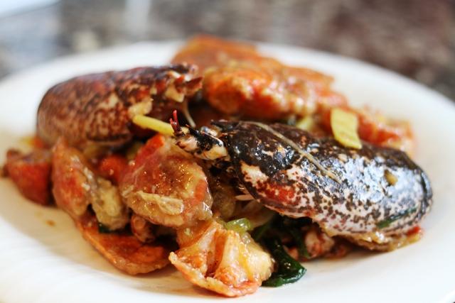 曼步厨房 - 姜葱龙虾
