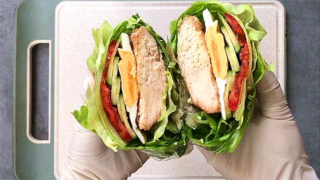 #中秋团圆食味# 关晓彤-蔬菜三明治的做法