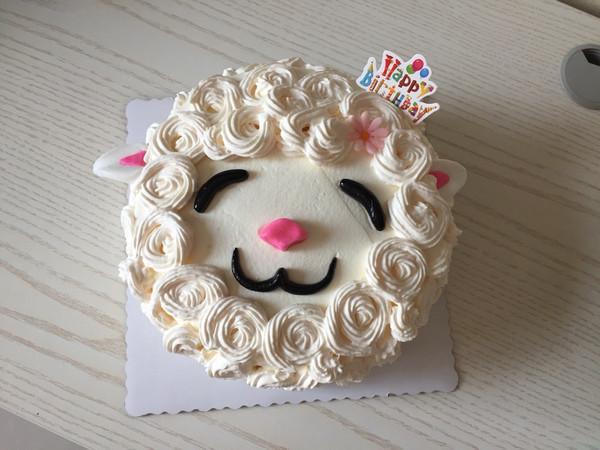 小羊水果蛋糕的做法