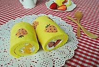手绘草莓蛋糕卷#豆果5周年#的做法
