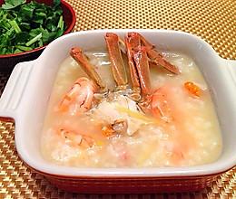 砂锅虾蟹粥(大闸蟹版)的做法