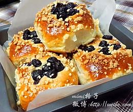 酥粒蓝莓排包的做法