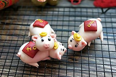 原创面食~吉祥小猪馒头