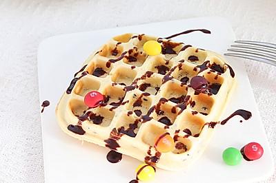 黑芝麻奶香华夫饼︱松软香甜超好吃!