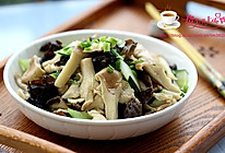 猪肚菇炒鸡片的做法