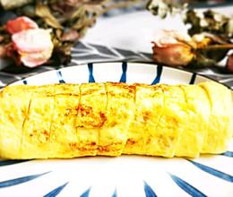 #换着花样吃早餐#蟹棒芝士厚蛋烧的做法
