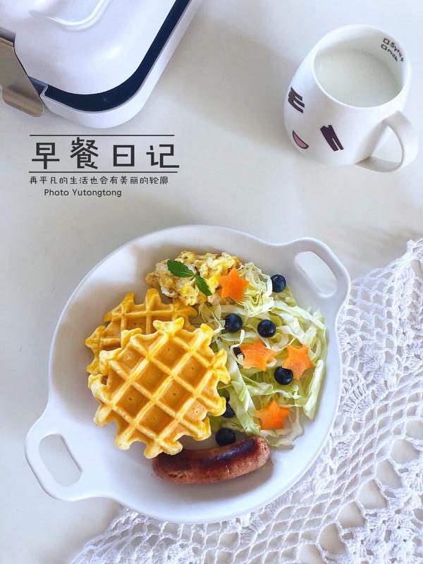 ㊙️健康食谱~玉米面华夫饼的做法