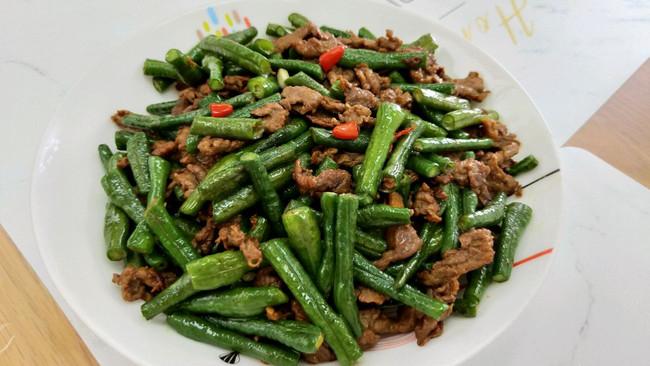 长豆角炒牛肉的做法