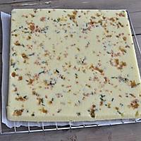 香葱火腿肉松蛋糕卷的做法图解12