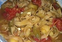 茄子土豆焖面的做法