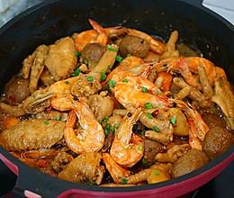 鸡爪虾煲的做法