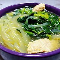 #一道菜表白豆果美食#粉条鲜肉菠菜汤的做法图解11