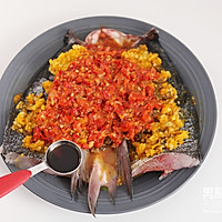 双色剁椒鱼头的做法图解4