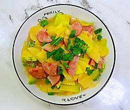 【孕妇食谱】火腿南瓜土豆片,赏心悦目又营养丰富,美味又下饭~的做法