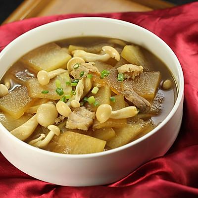 冬瓜白玉菇肉片