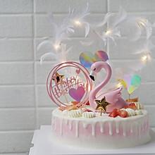八寸蜜桃火烈鸟生日蛋糕