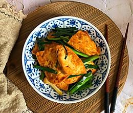 蒜苗炒豆腐的做法