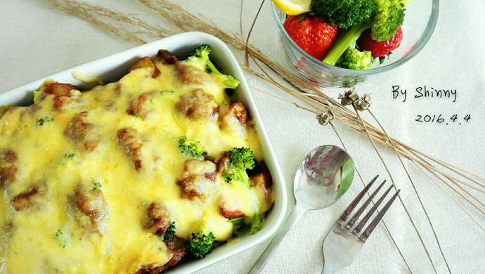 时蔬鸡肉咖喱焗饭(自制咖喱酱)