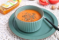 #太太乐鲜鸡汁玩转健康快手菜#你这样做过番茄汤吗~罗勒番茄汤的做法