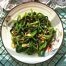 鲜虫草花拌菠菜