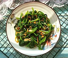 鲜虫草花拌菠菜的做法