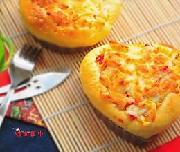口蘑彩椒披萨#1%的最嗨烘焙#的做法