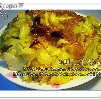 卷心菜炒粉条