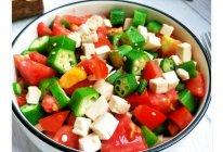 秋葵豆腐沙拉的做法